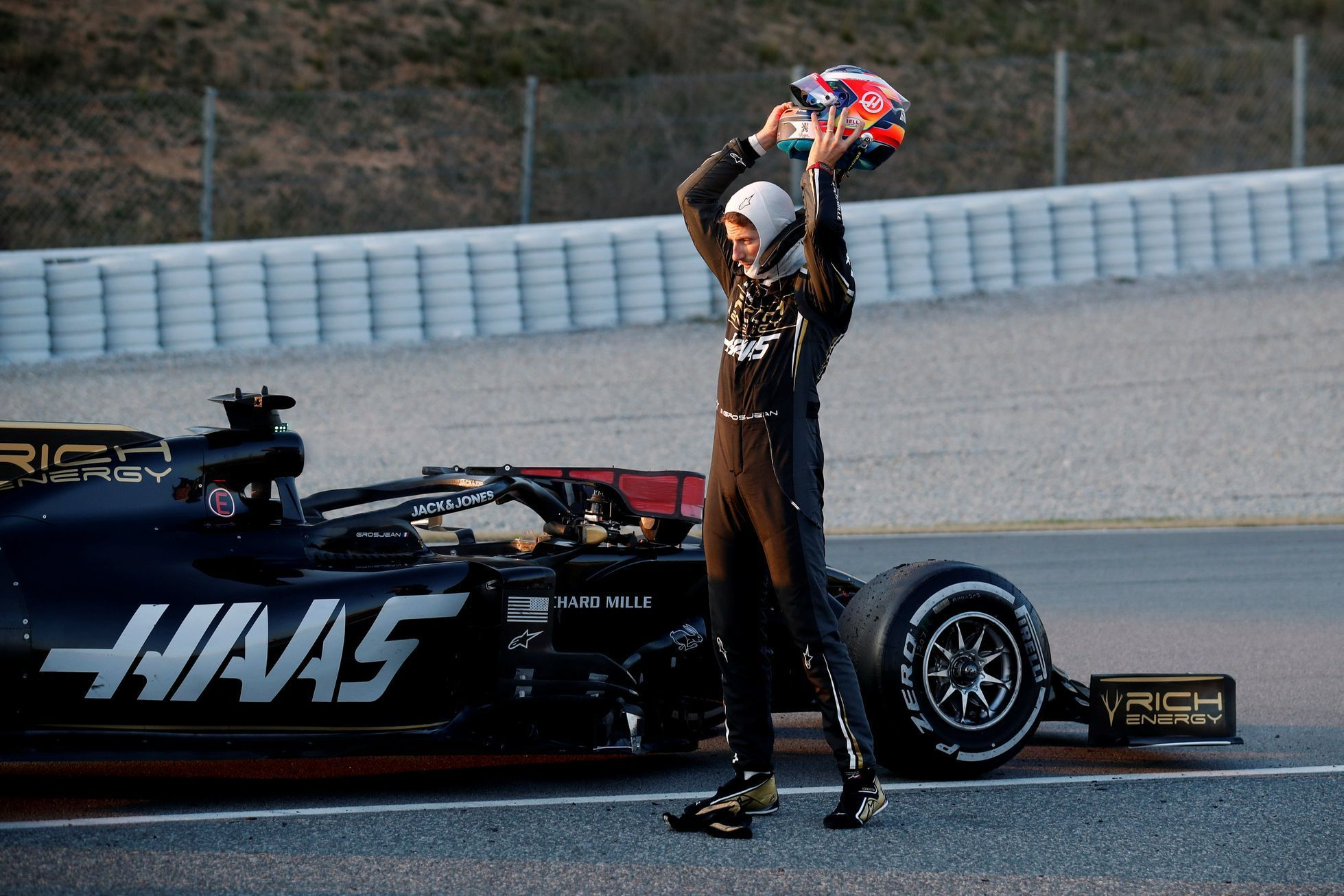 Testy F1 2019, Barcelona I: Romain Grosjean, Haas