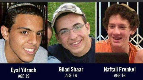 Zavraždění Ejal Jifrach,Gilad Šaar a Naftali Frenkel.