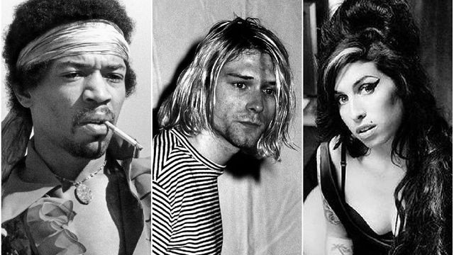 Jimi Hendrix, Kurt Cobain, Amy Winehouse