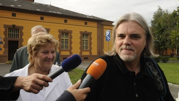 Karel Srba after his release