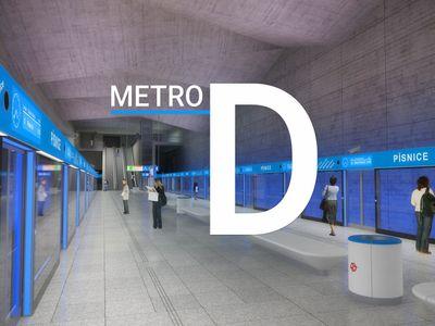 Projeďte si novou linku D. Grafika ukazuje, kde vzniknou stanice metra bez řidiče