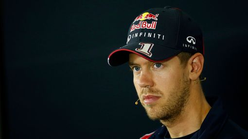 Red Bull Formula One driver Sebastian Vettel of Germany attends a news conference ahead of the Spanish F1 Grand Prix at the Barcelona-Catalunya Circuit in Montmelo May 8,