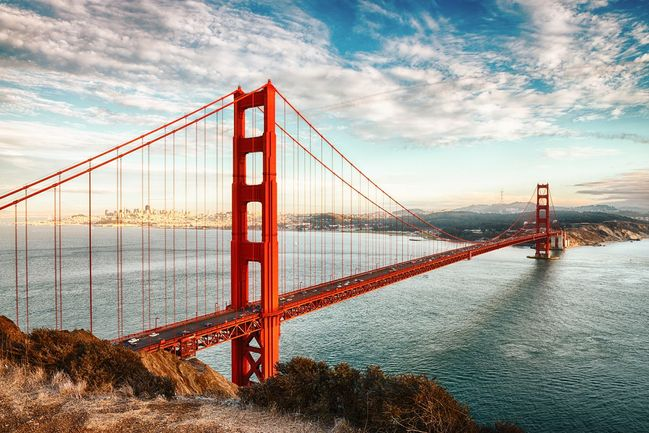 9) The Golden Gate Bridge, San Francisco