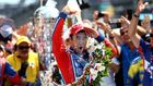 The 40-year-old Japanese has so far won only one IndyCar race, so the traditional Indy 500 triumph celebration with a bottle of milk has enjoyed it.