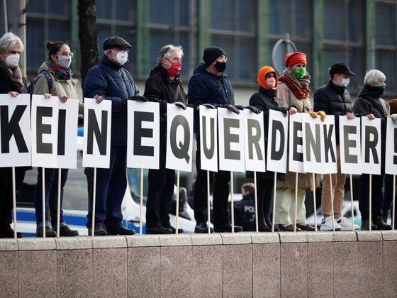 Lipsko, koronavirus-demonstrace