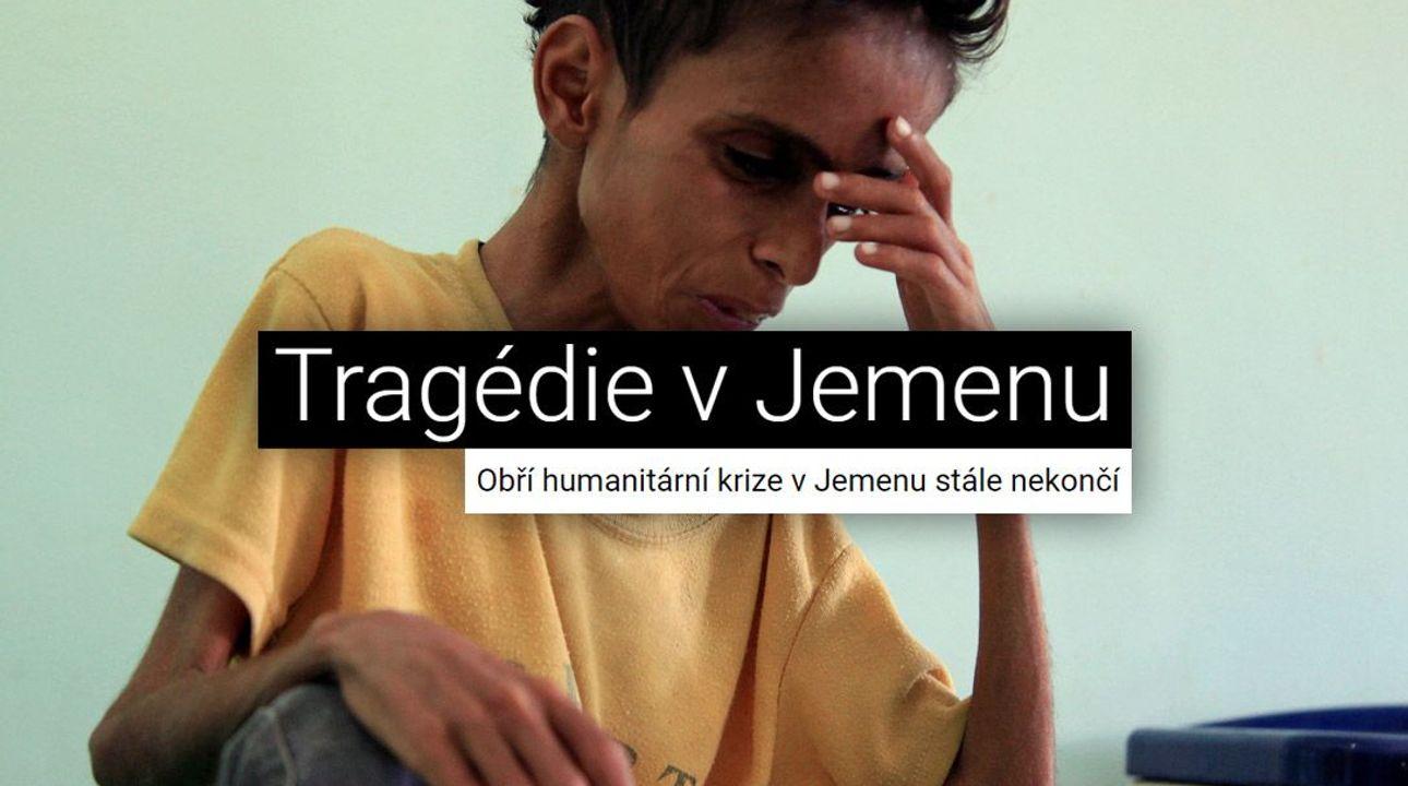 Děti umírají hlady, země je v troskách. Velký speciál o nekončící katastrofě Jemenu