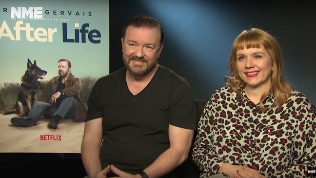 British comedy hero Ricky Gervais about After Life