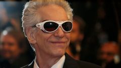 "Director David Cronenberg poses on the red carpet as he arrives for the screening of the film ""Maps to the Stars"" in competition at the 67th Cannes Film Festival in Cannes"