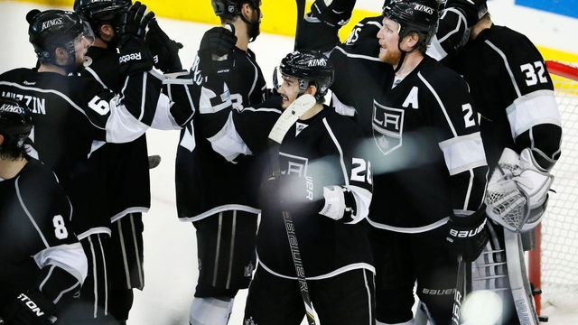 Los Angeles Kings - San Jose Sharks (radost obhájců titulu)