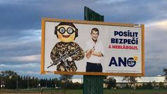 Babiš billboard