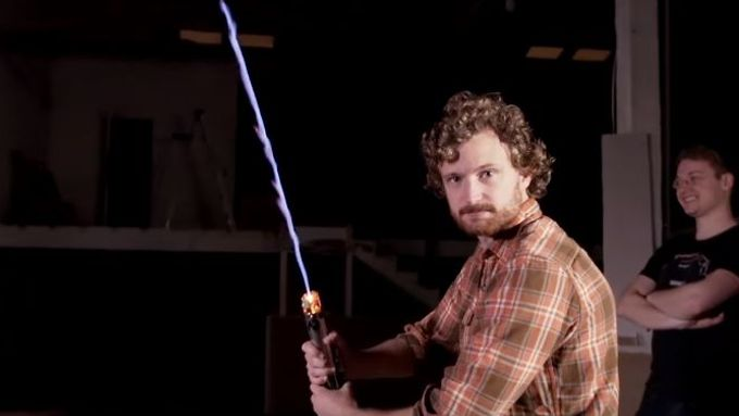 Real Lightsaber Attack
