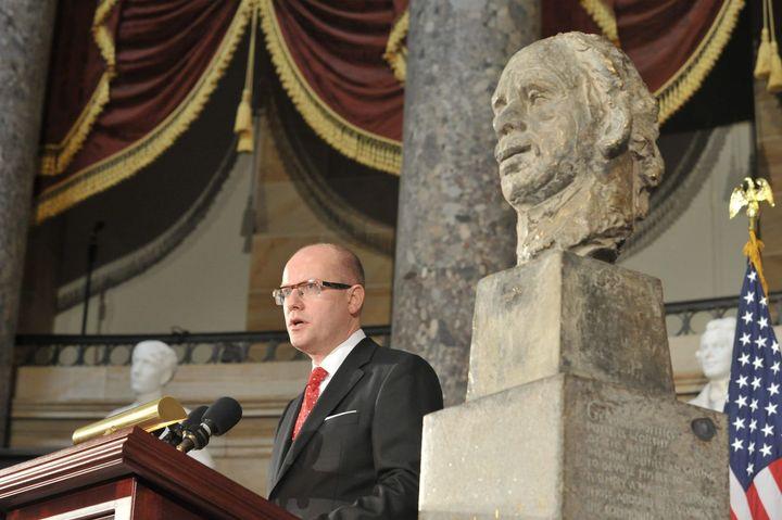 busta Václav Havla v kongresu USA Sobotka