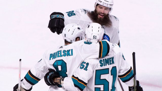 Radim Šimek, Joe Pavelski, Brent Burns