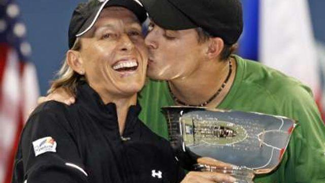 Poslední grandslamový titul Navrátilové, mix US Open 2006 s B. Bryanem