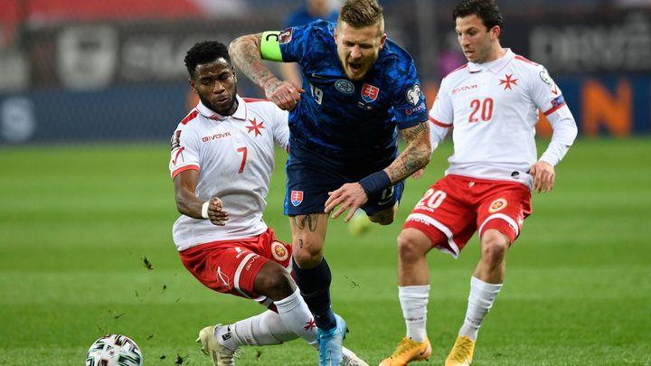 Promrhali jsme poločas, takhle se hrát nedá, stydí se Slováci za remízu s Maltou