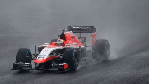 Marussia Formula One driver Jules Bianchi of France drives during the Japanese F1 Grand Prix at the Suzuka Circuit October 5, 2014. French driver Bianchi was taken to hos