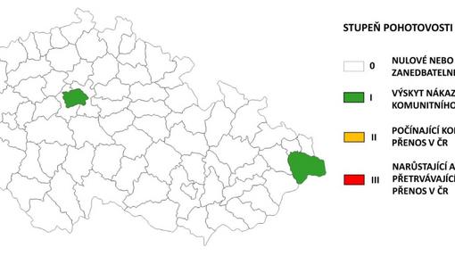 Koronavirová situace v českých krajích k 10. 8. 2020.