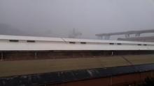 Muž natočil zřícení dálničního mostu v Janově