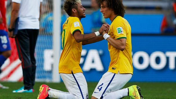 MS 2014, Brazílie-Chile: Neymar a  David Luiz