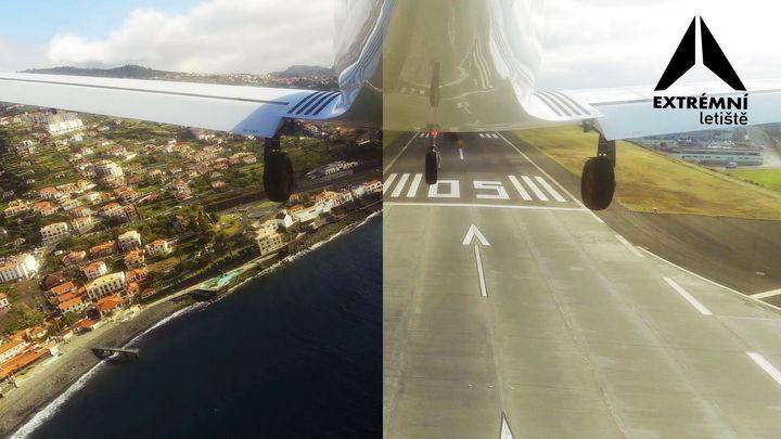 Extrémní letiště: Přistání na Madeiře komplikují agresivní turbulence