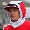 Ferrari's formula one driver Raikkonen of Finland arrives for the Japanese F1 Grand Prix at the Suzuka Circuit