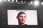 Soccer Football - Premier League - Arsenal v Cardiff City - Emirates Stadium, London, Britain - January 29, 2019  The big screen displays a message as a tribute to Emilia