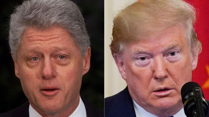 Bill Clinton a Donald Trump