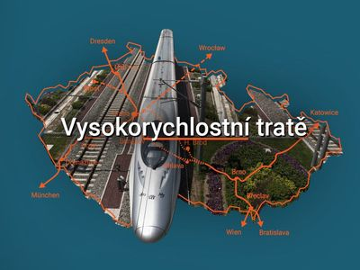 Grafika: Rychlovlaky budou v Česku jezdit až 350 km za hodinu. Podívejte se, kam pojedou a za kolik