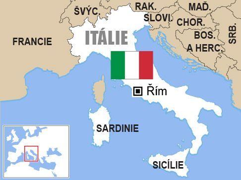 Výsledek obrázku pro itálie mapa