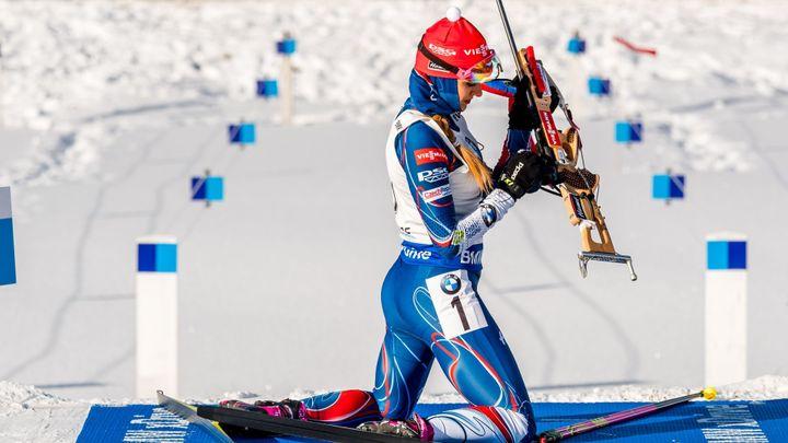 První na startu, první v cíli. Koukalová ovládla sprint v Oberhofu