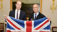 Henry Worsley na snímku s princem Williamem