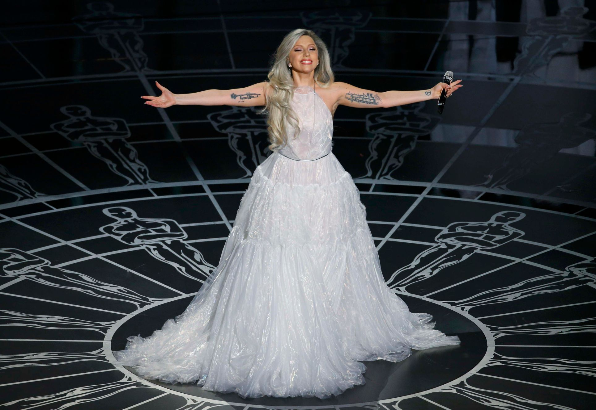 "Lady Gaga performs songs from ""The Sound of Music"" during the 87th Academy Awards in Hollywood"