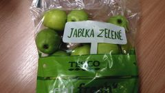 Tesco jablka pesticidy