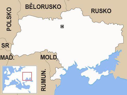 Ukrajina Slepa Mapa Aktualne Cz