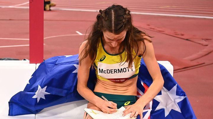 Australanka básnila o olympiádě, teď má stříbro. Při závodě si psala do deníčku; Zdroj foto: Reuters