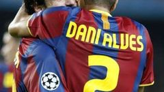 Lionel Messi a Daniel Alves
