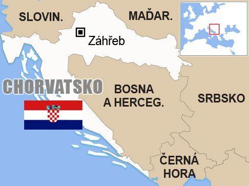Výsledek obrázku pro chorvatsko mapa