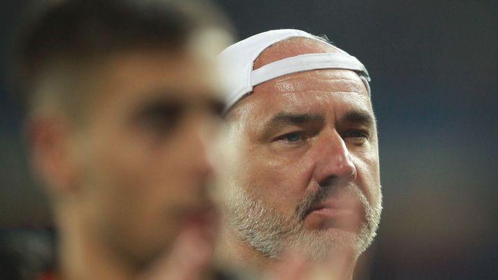 Zklamání, řekl po prohraném derby Trpišovský. Ousoua za červenou kritizovat nechtěl; Zdroj foto: Milan Kammermayer