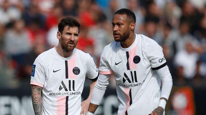 S Messim, Neymarem i Mbappém, přesto PSG v Rennes nebodovalo; Zdroj foto: Reuters