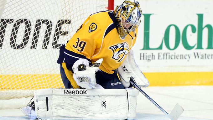 NHL: Boston Bruins vs Nashville Predators (Mazanec)