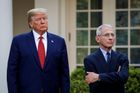 Donald Trump a lékař Anthony Fauci