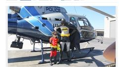 Boy w leukemia fights crime with Anaheim police, Batman