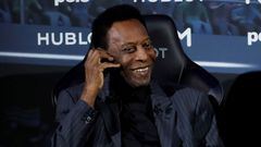 FILE PHOTO: Brazilian soccer legend Pele is seen in Paris