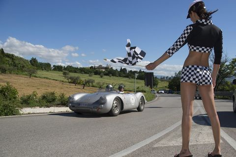 Porsche grid girls - Porsche 550 RS