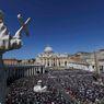 Sto padesát tisíc věřících zcela zaplnilo náměstí ve Vatikánu.