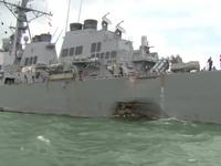 Potápěči našli v poškozeném torpédoborci těla amerických námořníků