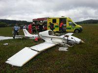 U Olomouce se ve vzduchu srazily dva ultralighty. Jeden z pilotů zemřel